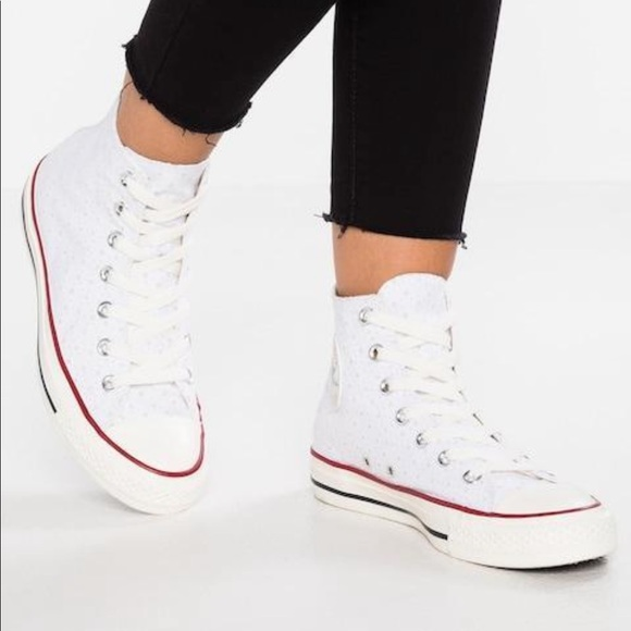 8bd855c06b Ivory Perforated All Stars HighTop Classic Sneaker NWT